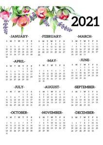 2021 Yearly Calendar Template 1 pdf