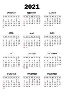 Editable Calendar 2021 1 pdf