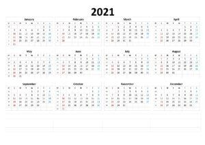 Printable 2021 Monthly Calendar 1 pdf