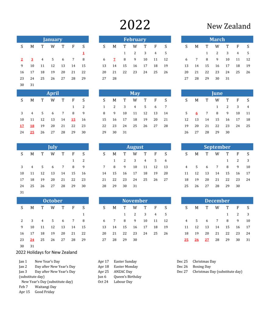 Public Holidays In NZ